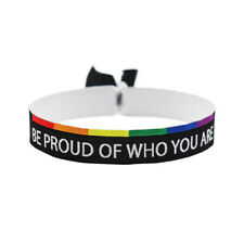 Be proud of who you are Armband Festival Bändchen LGBT Pride CSD Love is Love