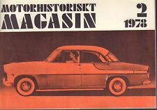 Motorhistoriskt Magasin Swedish Car Magazine 2 1978 Ford 040317nonDBE