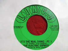 """7"""" 45rpm Funk THE ELECTRIC EXPRESS It's The Real Thing Pt 1 & 2 LINCO USA"""