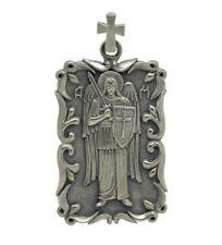 Handmade Sterling Silver Cross Biker Pendant St Michael the Archangel US Army