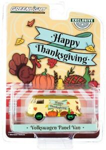 "Chase VOLKSWAGEN PANEL VAN ""HAPPY THANKSGIVING"" 1/64 DIECAST BY GREENLIGHT 30221"