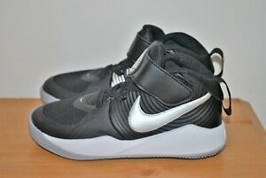 Nike Boys' Team Hustle D9 Black Basketball Shoes - Size 11
