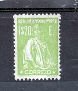 Portugal 1920 Ceres 1$20 Centavos Yellow Green MNH
