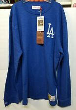 Los Angeles Dodgers Mitchell & Ness Cooperstown Collection Long Sleeve Shirt LT