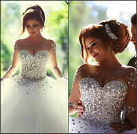 Luxury Crystal Corset Wedding Dresses 2019 Sweetheart Beaded Bridal Gown Custom
