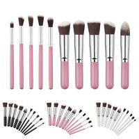 New 10PCS Cosmetic Makeup Brushes Set Foundation Powder Eyeshadow+Pouch Bag 2016