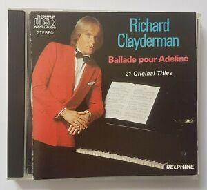 """RICHARD CLAYDERMAN 1977-83 ╚ CD """"BALLADE POUR ADELINE""""╚   (21 TITRES)"""