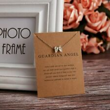 Simple Gold Guardian Angel Wing Charm Pendant Necklace Women Jewelry Gifts New