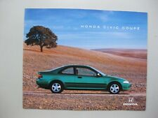Honda Civic coupe brochure Prospekt langue française french 12 pages 1991