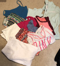 Womens Clothes Lot 7 Tops 1 Jacket 3 Pr. Of Shorts/long Shorts