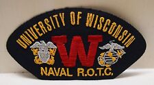 2 University of Wisconsin Naval ROTC patches patch R.O.T.C. memorabillia New