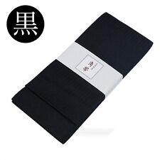 角帯 KAKU OBI japonais - NOIR - ceinture japonaise pour homme - MADE IN JAPAN 219