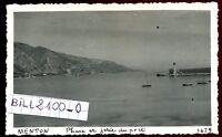 Menton. Alpes-Maritimes . le phare . photo ancienne . septembre 1946