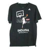 Adidas IU Indiana University Basketball Black T-Shirt Men's Large