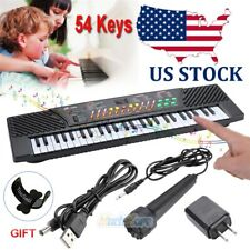 54 Key Electronic Keyboard Music Electric Digital Piano Organ w/Mic for Children