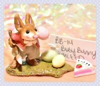 ❤️Wee Forest Folk B-14 Busy Bunny Easter Rabbit Bent Ears LIMITED to 250 WFF❤️