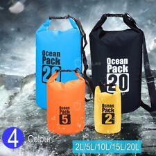 Sac étanche dry sack pour kayak / Canoë / Voile / Pêche / Camping Noir Andes