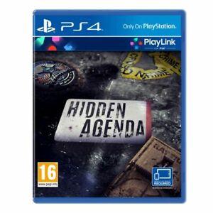 Hidden Agenda (Playstation 4 PS4) BRAND NEW & SEALED