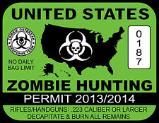 A4 Poster - Green United States Zombie Hunting Permit(Picture Gothic Horror Art)