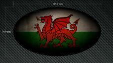 125 mm effetto anticato ovale Galles Bandiera Adesivo/Adesivo-Stampato & Laminati-Gallese