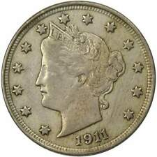 1911 Liberty Head V Nickel 5 Cent Piece XF EF Extremely Fine 5c US Coin