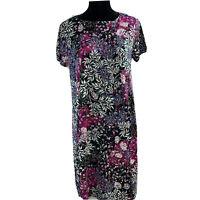 J.Jill Women's Petite Small SP Floral Short Sleeve Pocket Dress New