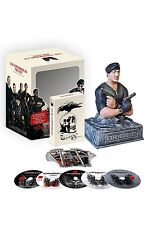 THE EXPENDABLES 1 2 3 Trilogy +NEW YEAR'S EVE STALLONE BUST BLU-RAY LIMITED BOX