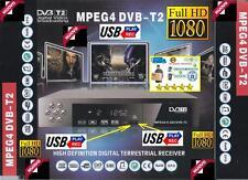 DECODER RICEVITORE DIGITALE TERRESTRE DVB-T2 FULL HD 1080 REC USB HDMI MPEG4 DVX