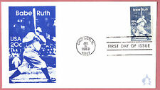2046 Babe Ruth Andrews Cachet First Day Cover Unaddressed Lot 882