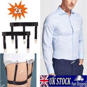 1 pair Mens Shirt Stays Holder Garters Suspenders Military Uniform Non-slip Sock