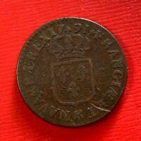 #5093 - Louis XVI Sol 1791 K Bordeaux TTB