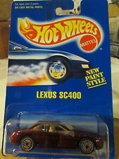 Hot Wheels Lexus SC400 #264 All Blue card