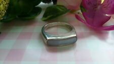 Beautiful White Gems Solid Band Ring Real 925 Sterling Silver*Size6.25*43Y