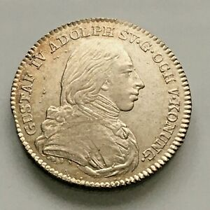 Sweden 1/6 Riksdaler 1809 very high grade