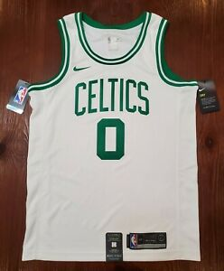 Authentic Nike Swingman White Jersey Jayson Tatum Boston Celtics #0 SZ Small