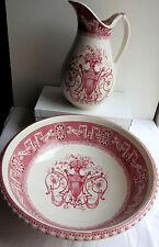 SUBLIME Service de toilette, vasque + broc signé B.F. Badonviller: modèle Boston