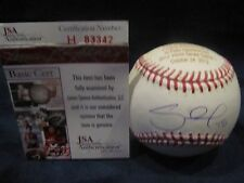 Pablo Sandoval Autographed & Engraved WS Record OML Baseball - JSA Cert