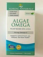 Nordic Naturals: Algae Omega Supplement - 120 Softgels    Plant Based: EPA + DHA