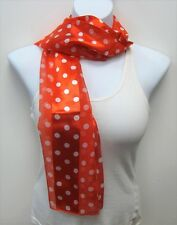 Red Polka Dot Scarf Long Scarf Red With White Polka Dots NEW Womens Ladies Gift