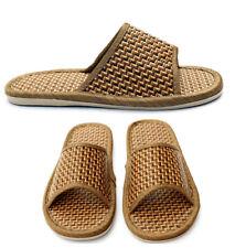 Мужские женские соломенные сандалии тапочки комфорт ручной работы из бамбука лен туфли шлепки