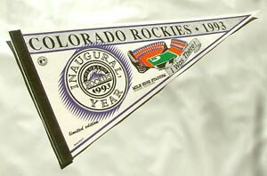 Vintage Colorado Rockies 1993 Inaugural Year Ltd Ed 'I Was There' Pennant Mint