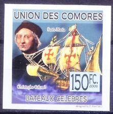 Columbus, Navigator Explorer, Ships, Comoros Imperf 2009 MNH