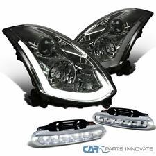 Para 03-07 G35 Coupe LED señal humo proyector de humo faros + lámparas de niebla claras 6-LED