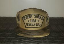Vintage Desert Shield USA Persian Gulf Camo Snapback Trucker Hat