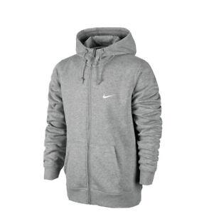 NIKE  Grey Classic Zip Up Hoodie Mens Size L