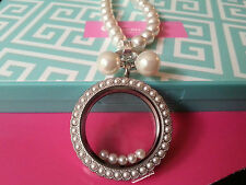 ORIGAMI OWL Pearl earring studs; goes well with  pearl necklace and locket!
