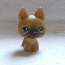 LITTLEST PETSHOP LPS  #61 HASBRO DOG CHIEN BERGER ALLEMAND MARRON YEUX MARRON