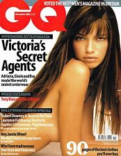 GQ UK November 2002 ADRIANA LIMA Gisele Bundchen EVA HERZIGOVA Robert Downey Jr