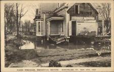 Montpelier VT 1927 Flood Damage VINTAGE EXC COND Postcard #19
