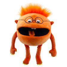 Handpuppe Monster Baby Klappmaulpuppe orange